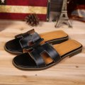 hermes leather slipper